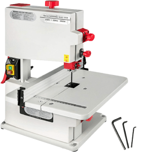 VEVOR_8_inch_Benchtop_Bandsaw_80mm_Cutting_Height_Small_Red_Metal_Tabletop_Band_Saw_with_Powerful_Durable_Motor_for_DIY_Hobby_Woodworking_Cutting_Craftsman-