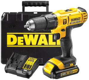 DEWALT_18V_CORDLESS_LITHIUM_LXT_COMBI_DRILL_DRILL_DRIVER_WITH_HAMMER_ACTION_FACILITY_COMPLETE_WITH_LITHIUM_BATTERY_FAST_CHARGER_HEAVY_DUTY_CARRYING_CASE